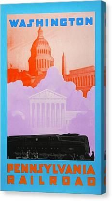 Washington Dc Canvas Print by David Studwell