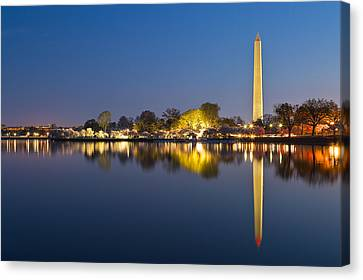 Washington Dc Dawn Monument Canvas Print