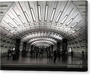 Washington Dc Metro Metro Center Stop Canvas Print