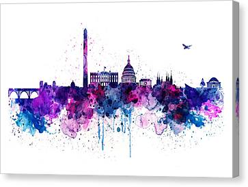 Washington Dc Skyline Canvas Print by Marian Voicu