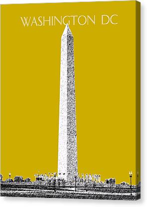 Washington Dc Skyline Washington Monument - Gold Canvas Print by DB Artist