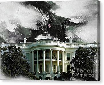 Washington Dc, White House Canvas Print by Gull G