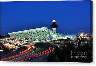 Washington Dulles International Airport At Dusk Canvas Print by Paul Fearn