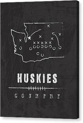Husky Canvas Print - Washington Huskies Country by Damon Gray