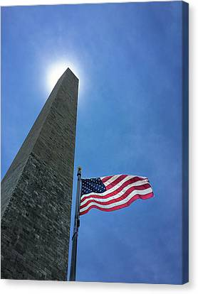 Patriotism Canvas Print - Washington Monument by Andrew Soundarajan