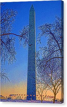 Washington Monument Canvas Print by Dennis Cox WorldViews