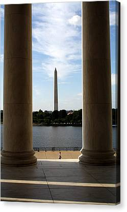 Washington Monument From Jefferson Memorial Canvas Print