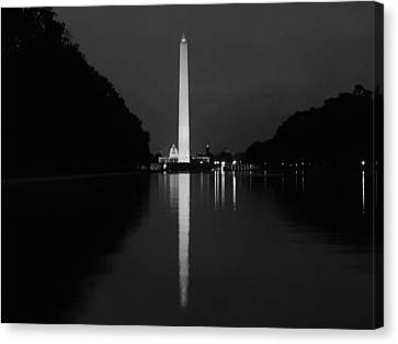 Washington Monument Reflecting Canvas Print by Artistic Photos
