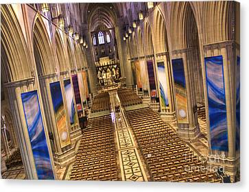 Washington National Cathedral Iv Canvas Print by Irene Abdou
