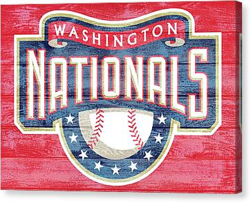 Baseball Park Canvas Print - Washington Nationals Barn Door by Dan Sproul