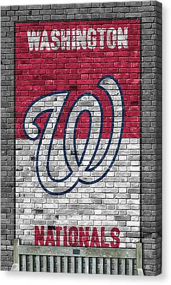 Baseball Fields Canvas Print - Washington Nationals Brick Wall by Joe Hamilton