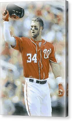 Washington Nationals Bryce Harper 2 Canvas Print by Joe Hamilton