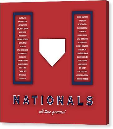 Washington Nationals Art - Mlb Baseball Wall Print Canvas Print