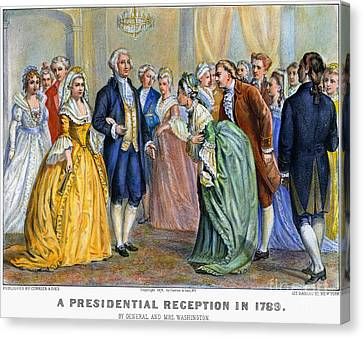 Washington Reception, 1789 Canvas Print by Granger