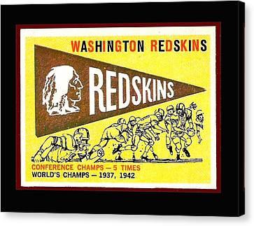 Washington Redskins 1959 Pennant Card Canvas Print by Paul Van Scott