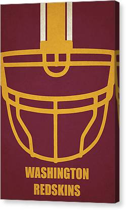 Washington Redskins Helmet Art Canvas Print by Joe Hamilton