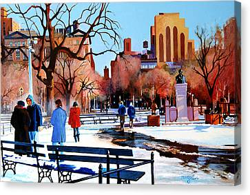 Washington Square Canvas Print by John Tartaglione