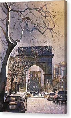 Washington Square- Nyc Canvas Print by Ryan Fox
