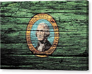Washington State Flag 2w Canvas Print