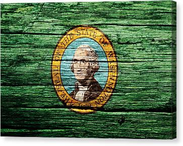Washington State Flag 4w Canvas Print