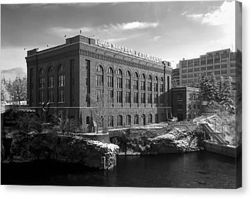 Washington Water Power Post Street Station - Spokane Washington Canvas Print by Daniel Hagerman