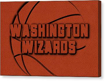 Washington Wizards Leather Art Canvas Print by Joe Hamilton