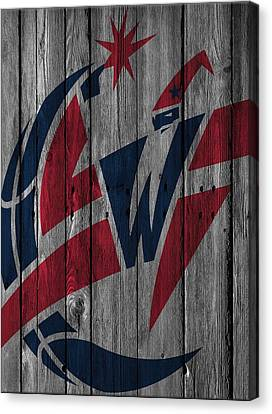 Washington Wizards Wood Fence Canvas Print by Joe Hamilton