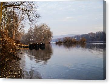 Washington's Crossing - Re-enactment Boats Canvas Print by Bill Cannon