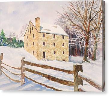 Washington's Grist Mill Canvas Print by Tom Harris