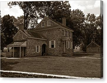 Washington's Headquarters At Valley Forge Canvas Print by Craig Fildes