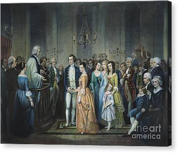 Washingtons Marriage Canvas Print by Granger
