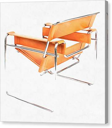 Wassily Chair Mid-century Modern Canvas Print by Edward Fielding
