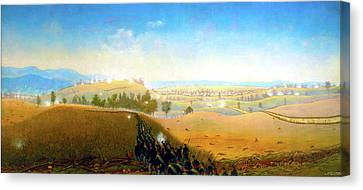 Wasted Gallantry Antietam - 7th Maine Infantry Canvas Print