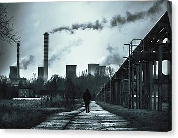 Wasteland Canvas Print by Art of Invi