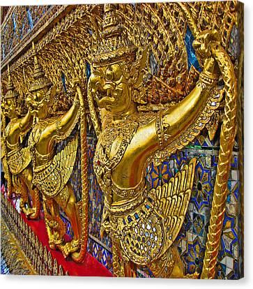 Wat Phra Kaew. Thaisq. Siam Texture Canvas Print by Andy Za