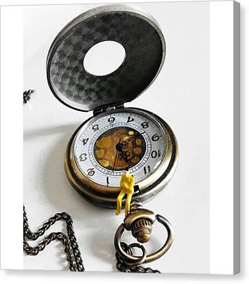 #watch #clock #time #vintage #steampunk Canvas Print