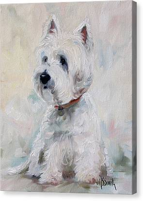 Watch Dog Canvas Print by Mary Sparrow