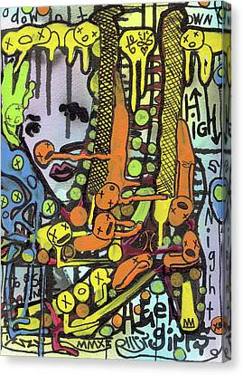 Watch Her Strut Canvas Print by Robert Wolverton Jr