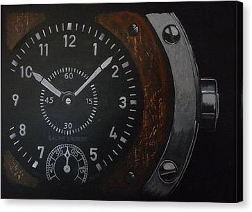 Canvas Print featuring the painting Watch by Richard Le Page