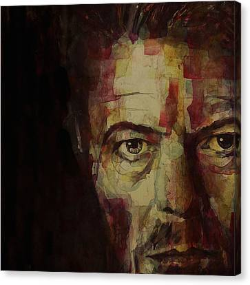 British Celebrities Canvas Print - Watch That Man Bowie by Paul Lovering