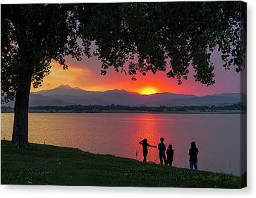 Watching A Burning Sunset What A View Canvas Print by James BO Insogna