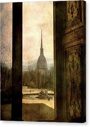 Watching Antonelliana Tower From The Window Canvas Print by Vittorio Chiampan