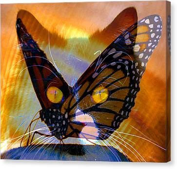 Canvas Print featuring the photograph Watching Butterlies by David Lee Thompson