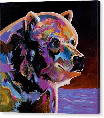 Watching For The Catch Canvas Print by Bob Coonts