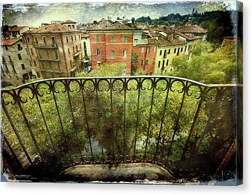Watching From The Balcony Canvas Print by Vittorio Chiampan