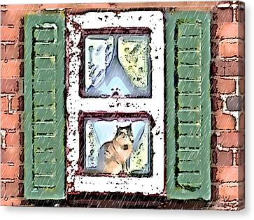 Watching It Rain Canvas Print by Arline Wagner