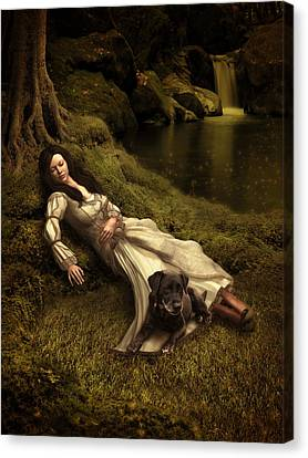 Watching Over Her Sleep Canvas Print by Britta Glodde