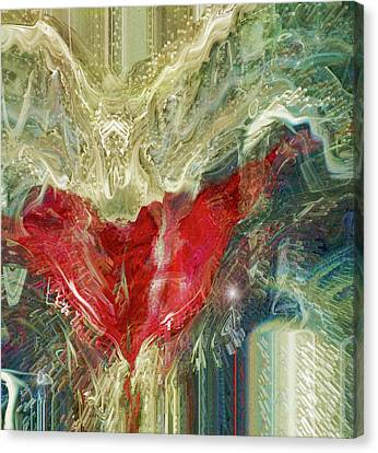 Canvas Print featuring the digital art Watching Over  by Linda Sannuti