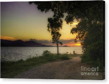 Watching Sunset Canvas Print