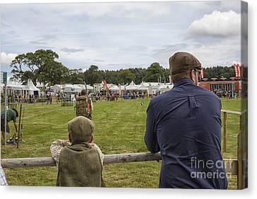 Watching The Dogs Retrieve  Canvas Print by Patricia Hofmeester
